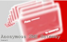 Anonymous SMS gateway desktop software